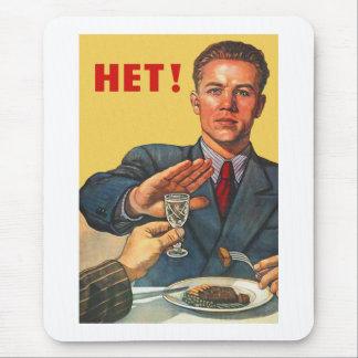 Retro Vintage Kitsch Soviet Propaganda Het Vodka Mouse Pad