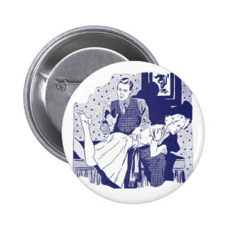 Retro Vintage Kitsch Spanking the Wife 6 Cm Round Badge