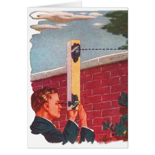 Retro Vintage Kitsch Spy On Your Neighbour! Card