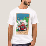 Retro Vintage Kitsch Stork Delivers Baby in Jalopy T-Shirt