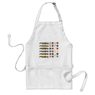 Retro Vintage Kitsch Suburbs Approved House Colors Apron