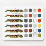 Retro Vintage Kitsch Suburbs Approved House Colour Mouse Pad