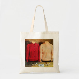 Retro Vintage Kitsch Surrealism Sweaters Catalog Budget Tote Bag