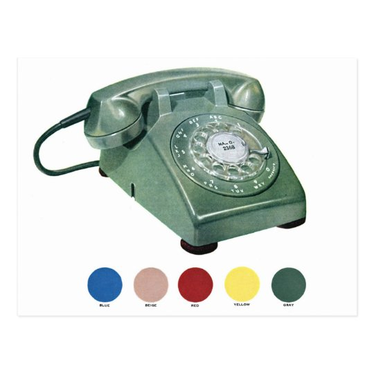 Retro Vintage Kitsch Telephone Phone Model 500 Postcard
