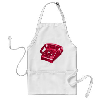 Retro Vintage Kitsch Telephone The Red Phone Aprons