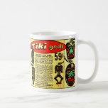 Retro Vintage Kitsch Tiki Gods Comic Ad Basic White Mug