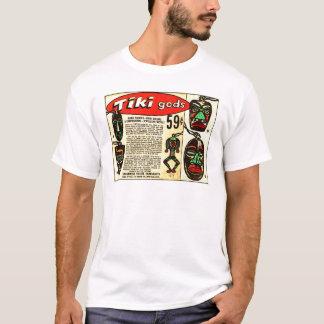 Retro Vintage Kitsch Tiki Gods Comic Ad T-Shirt