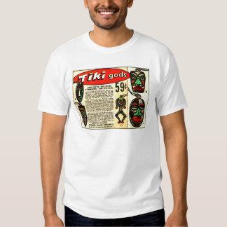 Retro Vintage Kitsch Tiki Gods Comic Ad Tee Shirt