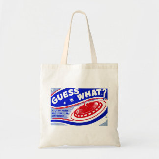 Retro Vintage Kitsch Toy Guess What Budget Tote Bag