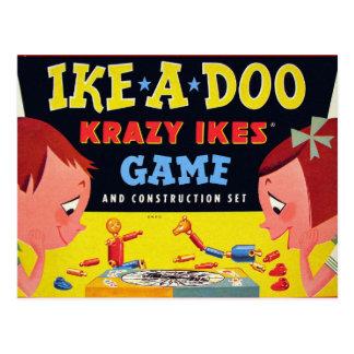 Retro Vintage Kitsch Toy Krazy Ike's Ike-A-Doo Postcard
