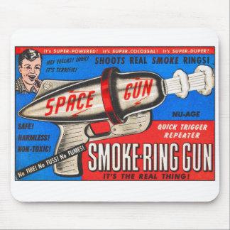 Retro Vintage Kitsch Toy Smoke Ring Gun Ad Mouse Pad
