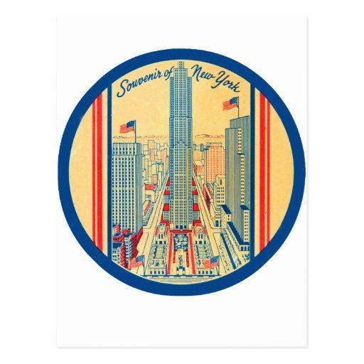 Retro Vintage Kitsch Travel Souvenir of New York Post Cards