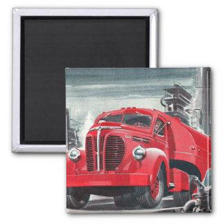 Retro Vintage Kitsch Truck Ad Illustration Magnet