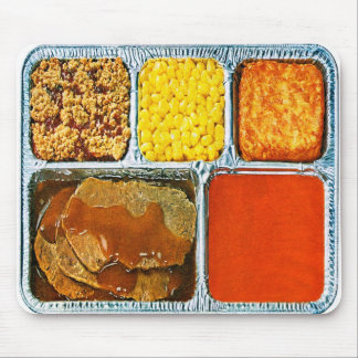 Retro Vintage Kitsch TV Dinner Beef & Tomato Soup Mouse Mat