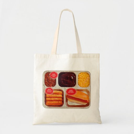 Retro Vintage Kitsch TV Dinner Now Bigger Hot Dog Bags