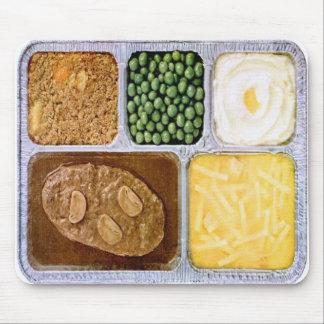 Retro Vintage Kitsch TV Dinner Sailsbury Steak Mouse Pad