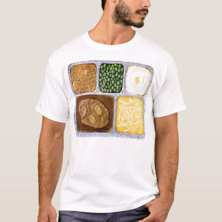 Retro Vintage Kitsch TV Dinner Sailsbury Steak T-Shirt