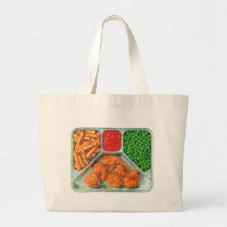 Retro Vintage Kitsch TV Dinner 'Shrimp' Jumbo Tote Bag