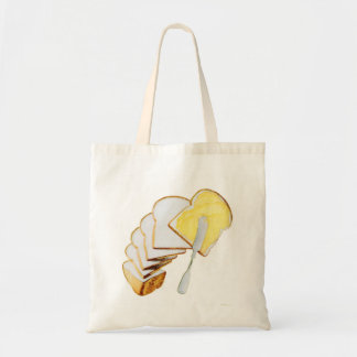 Retro Vintage Kitsch White Bread and Butter Bag