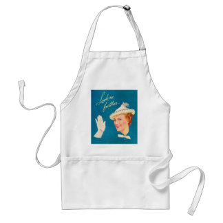 Retro Vintage Kitsch Women Look No Further Woman Adult Apron