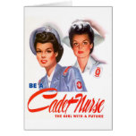Retro Vintage Kitsch WW2 Cadet Nurse Greeting Cards