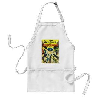 Retro Vintage Kitsch Your Friend The Policeman Standard Apron
