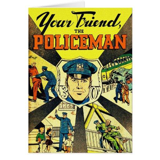 Retro Vintage Kitsch Your Friend The Policeman Card