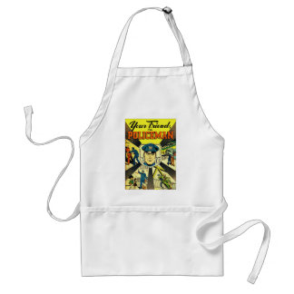 Retro Vintage Kitsch Your Friend The Policeman Standard Apron