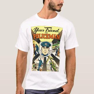 Retro Vintage Kitsch Your Friend The Policeman T-Shirt
