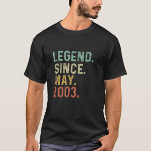Retro Vintage Legend Epic Since May 2003 18Th Birt T-Shirt
