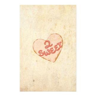 Retro Vintage Love 2 Sweet Heart Old Antique Paper Custom Flyer