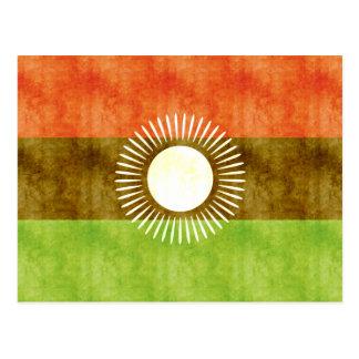 Retro Vintage Malawi Flag Postcards