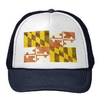 Retro Vintage Maryland Flag Trucker Hat