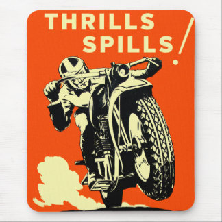Retro Vintage Motorcycles Races Thrills Spills Mouse Pad