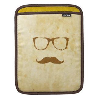 Retro Vintage Moustache Pattern iPad Sleeves