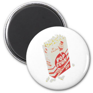 Retro Vintage Movie Theater Popcorn Magnet
