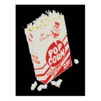 Retro Vintage Movie Theater Popcorn Post Card