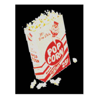 Retro Vintage Movie Theater Popcorn Postcard