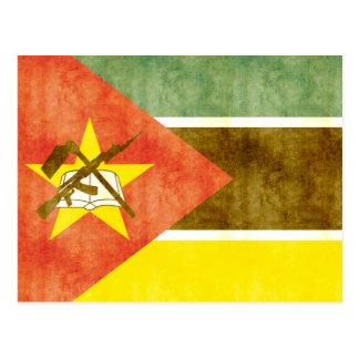 Retro Vintage Mozambique Flag Postcard