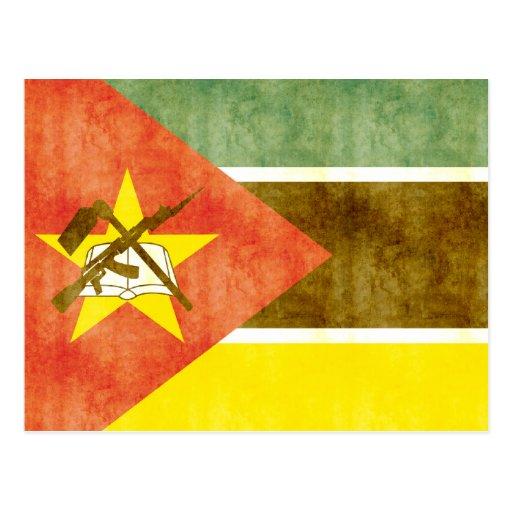 Retro Vintage Mozambique Flag Postcards