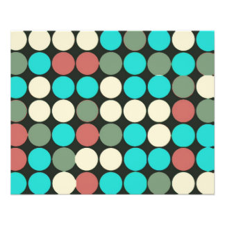 Retro Vintage Multicolored Circles Pattern Full Color Flyer