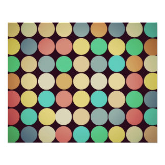 Retro Vintage Multicolored Circles Pattern Flyer Design