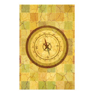 Retro Vintage Multicolored Compass Design Personalized Flyer