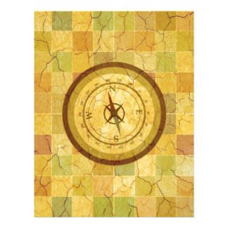 Retro Vintage Multicolored Compass Design Flyers
