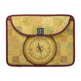 Retro Vintage Multicolored Compass Design MacBook Pro Sleeves
