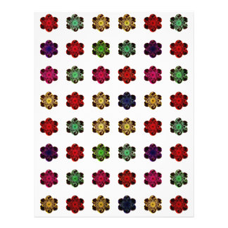 Retro Vintage Multicolored Flowers Design Full Color Flyer