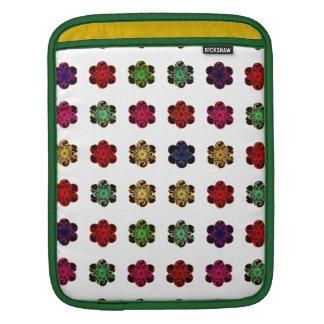 Retro Vintage Multicolored Flowers Design iPad Sleeves