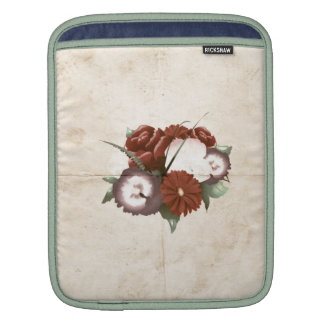 Retro Vintage  Multicolored Flowers Sleeve For iPads