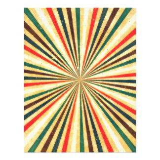 Retro Vintage Multicolored Swirl Pattern Personalized Flyer