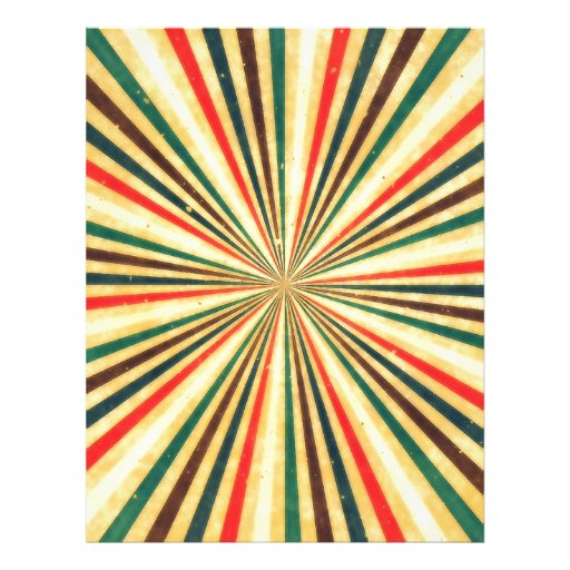 Retro Vintage Multicolored Swirl Pattern Personalized Flyer